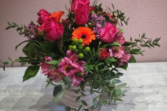 Blumenstrauß bunt in kräftigen Farben